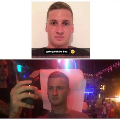 Lustiger Mann beim Lügen - Selfie Spaßbilder
