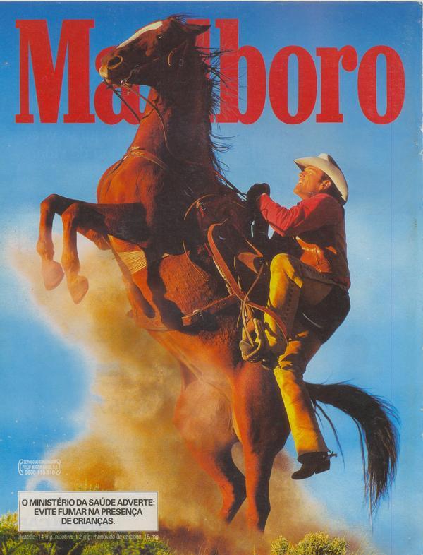 Propaganda antiga dos Cigarros Marlboro no final dos anos 90