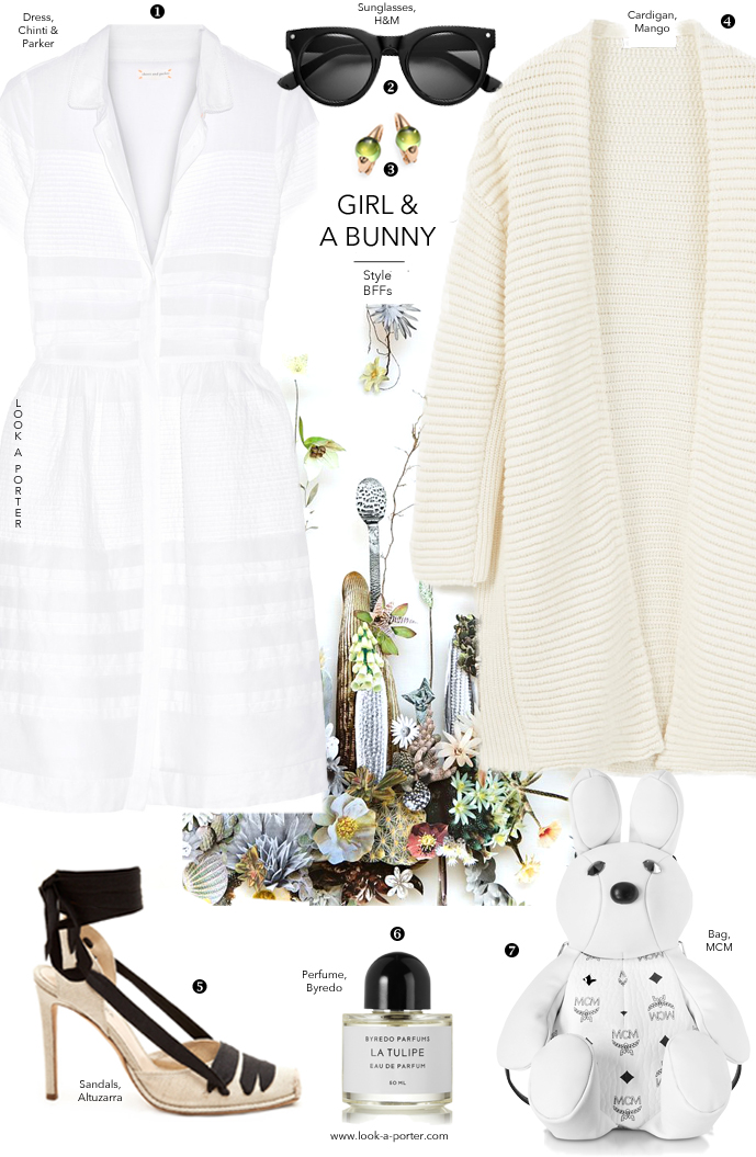 A few ideas on styling a white dress for summer via www.look-a-porter.com style & fashion blog