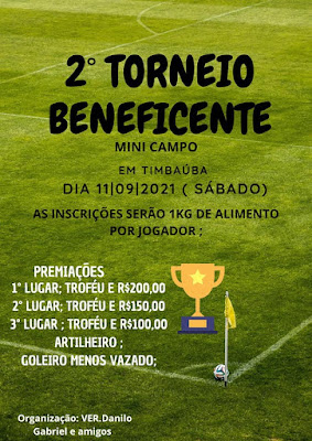 Segundo torneio beneficente em Timbaúba