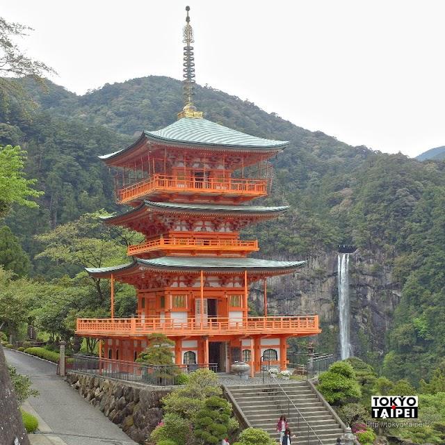 【青岸渡寺】朱紅色三重塔映襯雄偉那智瀑布 自然與信仰交織的絕景