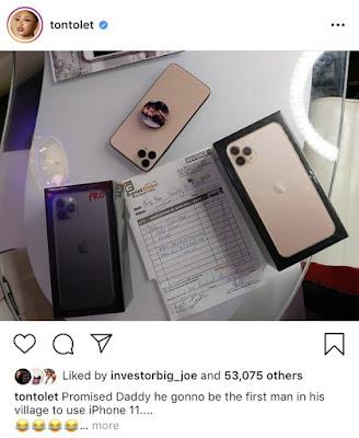 PHOTOS: Tonto Dikeh Buys Bobrisky N600,000 Iphone 11 Max