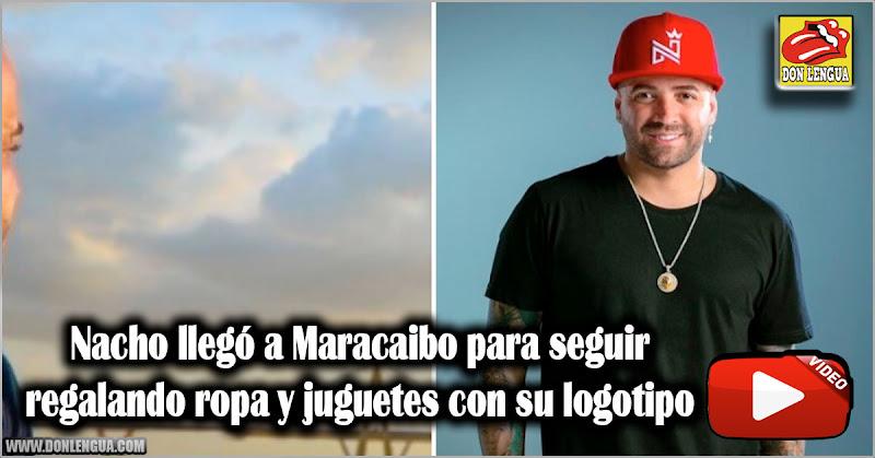 Nacho llegó a Maracaibo para seguir regalando ropa y juguetes con su logotipo
