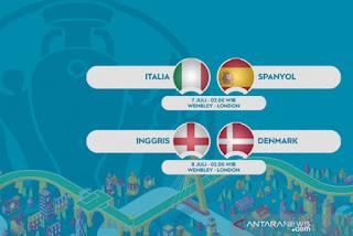 Semifinal Euro 2020: Italia Bertemu Spanyol, Inggris Ditantang Denmark