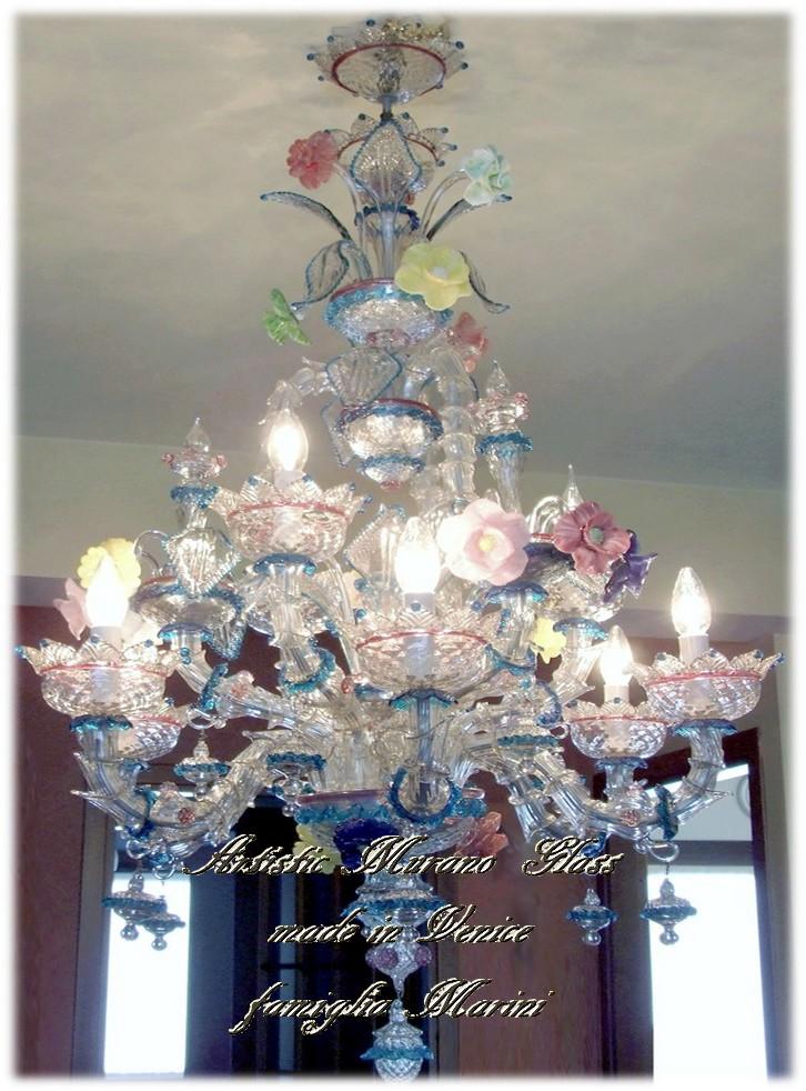 Lampadario Murano Ca Rezzonico.Artistic Murano Glass Chandelier Murano Chandeliers Ca Rezzonico