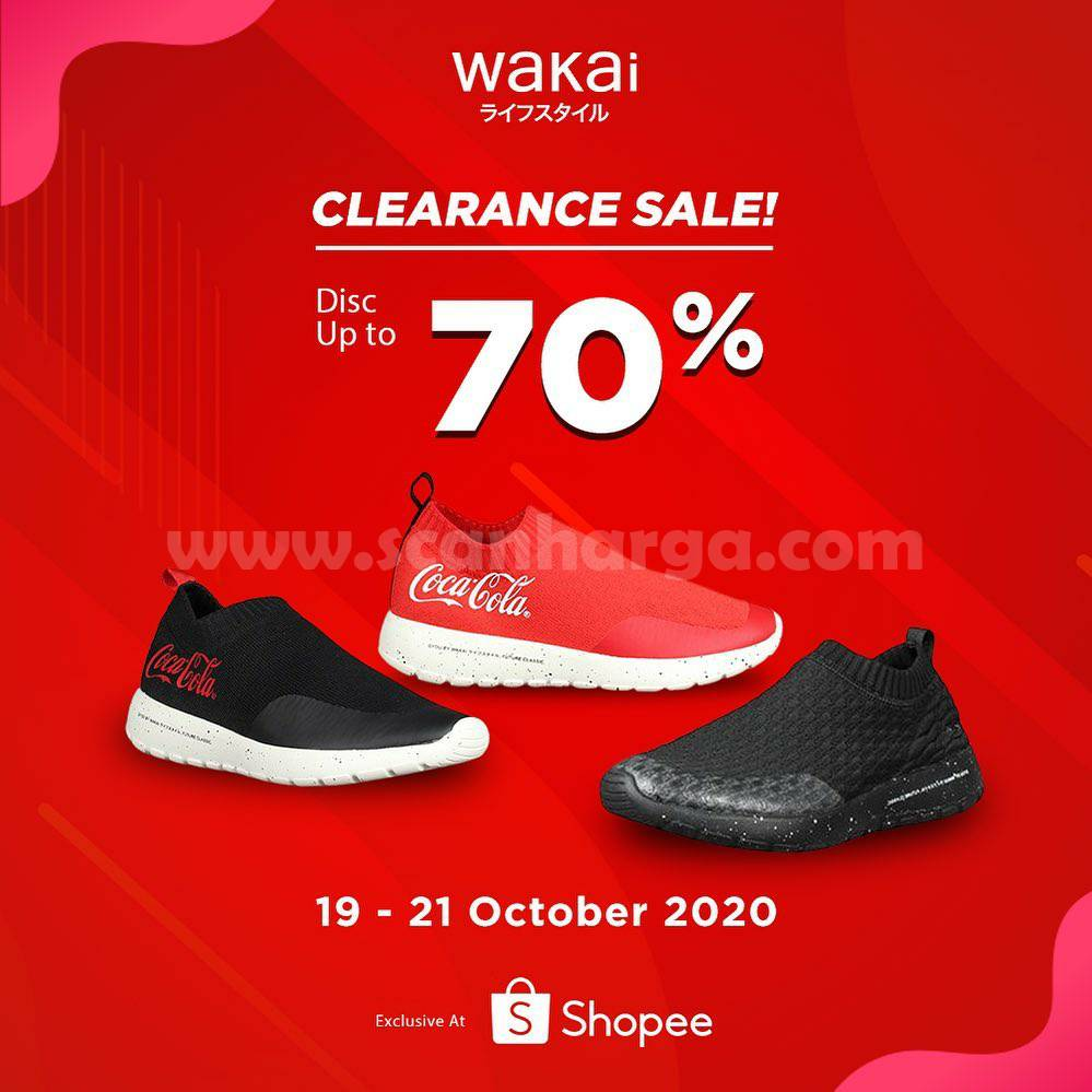 Promo WAKAI CLERANCE SALE! DISC Up to 70% Exclusive at Shopee