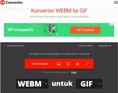 Cara mengubah WebM menjadi GIF-4