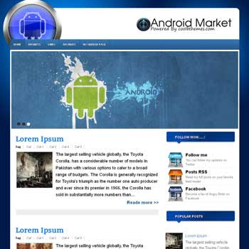 Android Market blogger template. template blogspot free