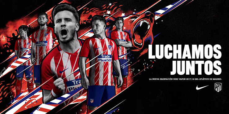 81737ddb6 The Atlético Madrid 2017-2018 home jersey introduces a bold design for the  debut at the new Wanda Metrapolitano stadium. Once again produced by Nike,  ...