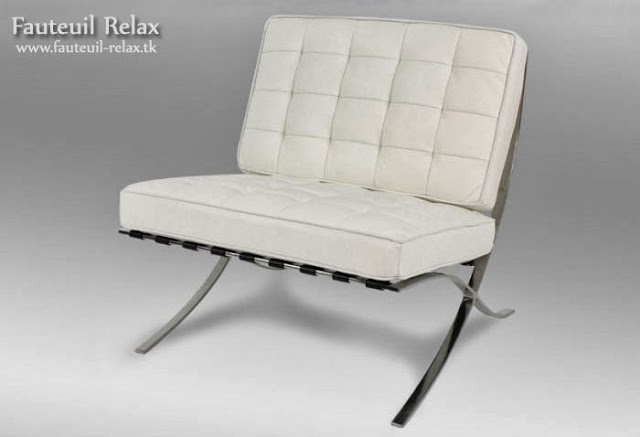 fauteuil barcelona en cuir italien blanc fauteuil relax. Black Bedroom Furniture Sets. Home Design Ideas