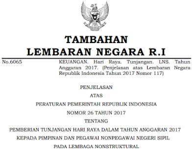 Pemberian THR bagi Pegawai Non PNS 2017