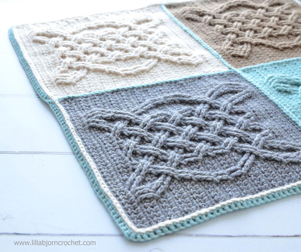Celtic Tiles Blanket Reveal Lillabjrns Crochet World