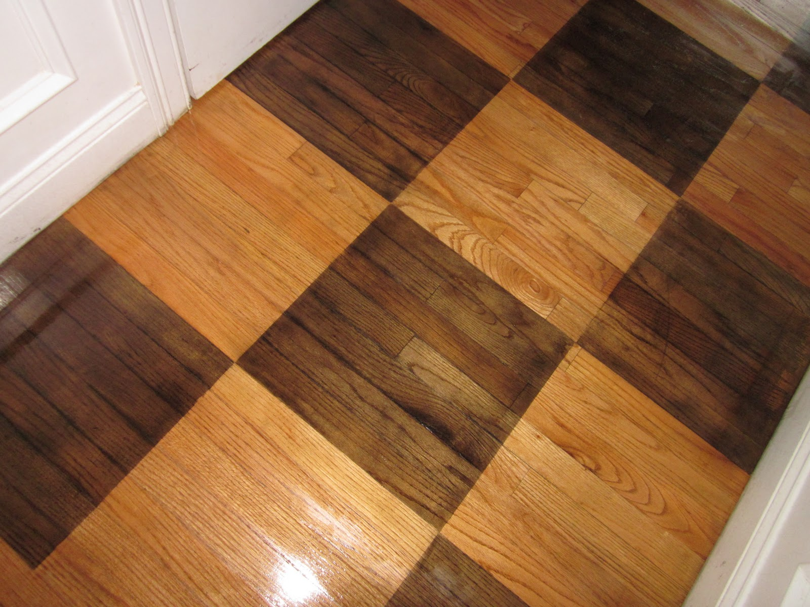 Down To Earth Style How To Paint A Rug On Wood Floors