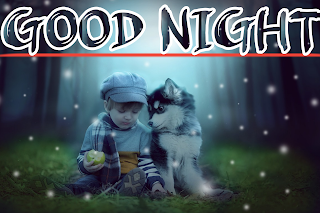 Good night baby image