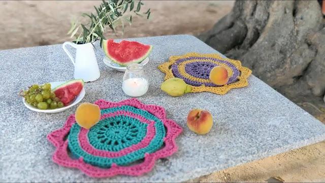 Tutorial Posaplatos Ibiza a Crochet Paso a Paso