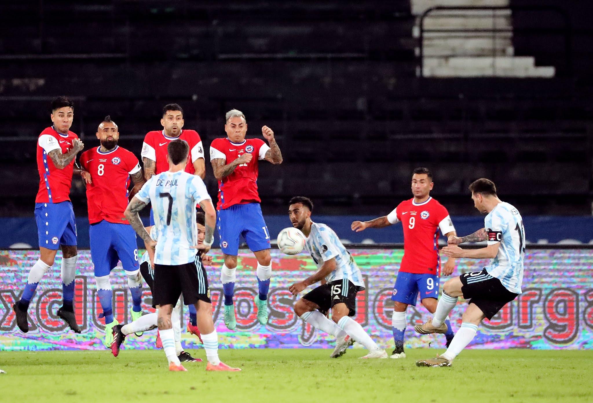 Argentina volvió a tropezar con la misma piedra y empató nuevamente con Chile en Copa América
