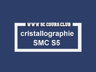 cours td tp et exercice avec corrigé de cristallographie smc s5 pour la faculté des sciences dhar el mehraz fsdm Pr.A. BRITEL