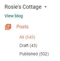 Blog posts waiting in draft