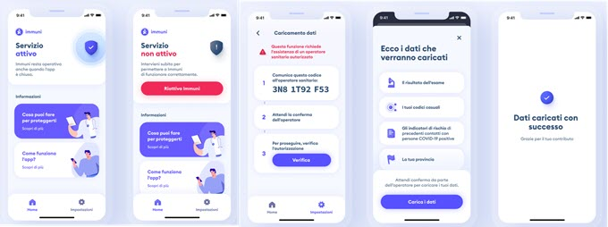 app immuni screenshot
