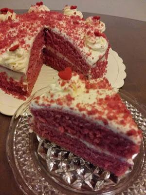 Kek Red Velvet Tanpa Telur