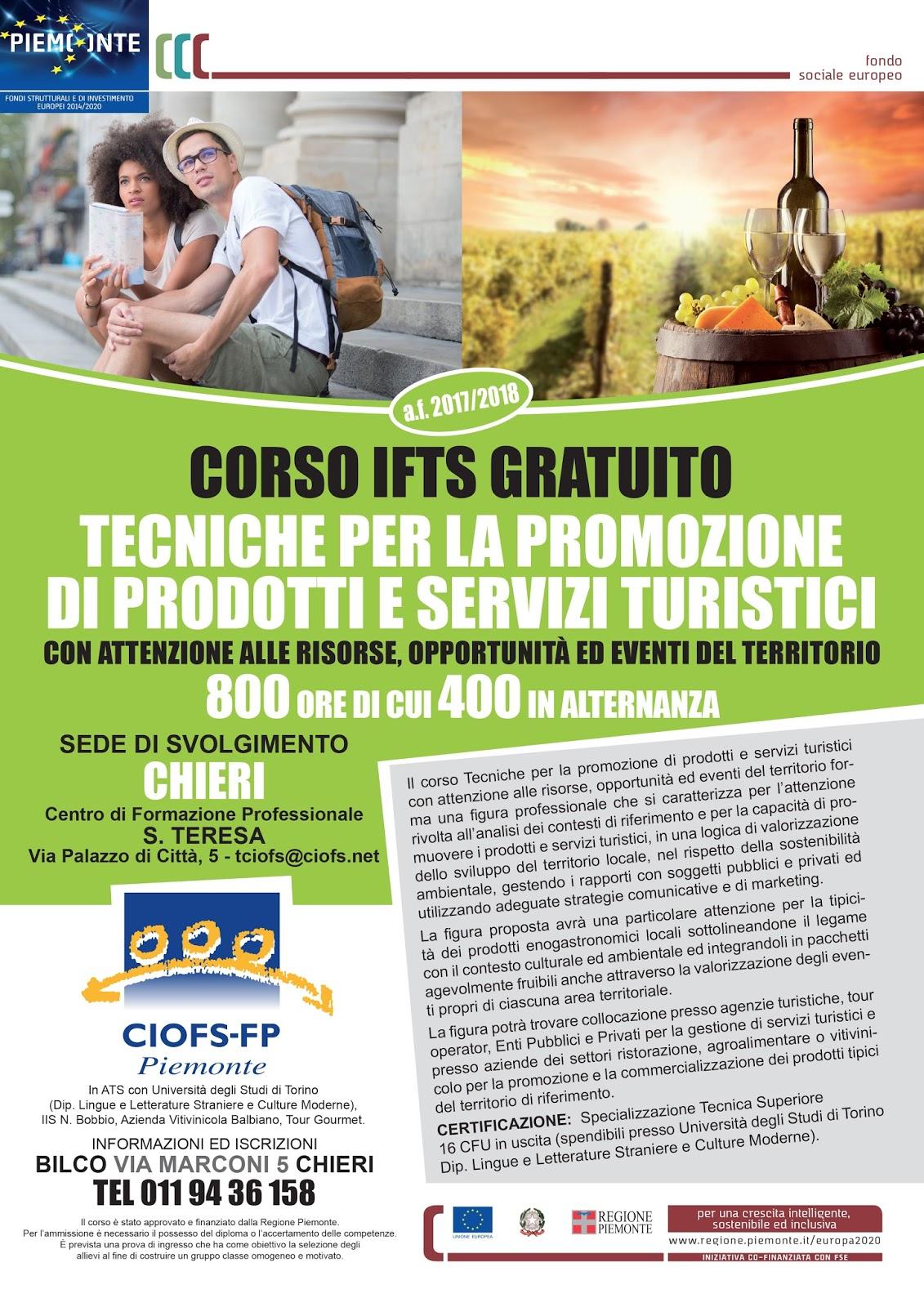 Corso gratuito in tecniche per la promozione di prodotti e for Buono per servizi turistici
