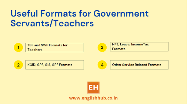 Useful Formats for Government Servants/Teachers