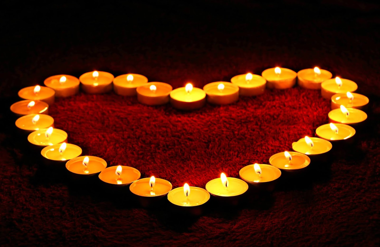 heart shaped candle images