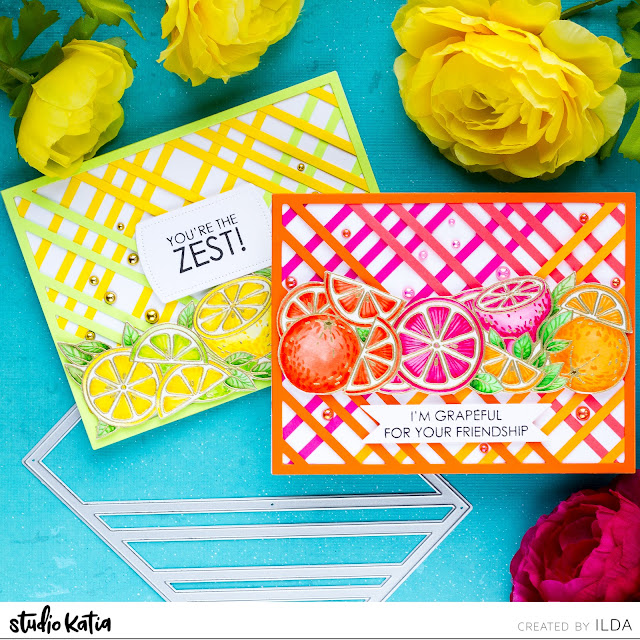 Citrus Trimmings Friendship Cards | Studio Katia
