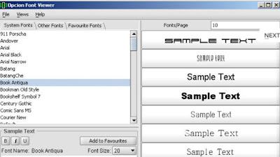 Aplikasi Font PC