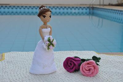 Decoração de casamento Amigurumi