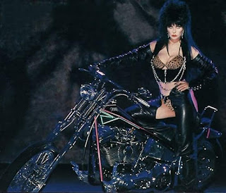 Elvira the biker babe