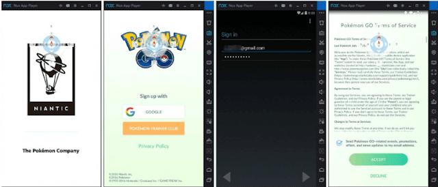 cara bermain Pokemon Go menggunakan Laptop / PC