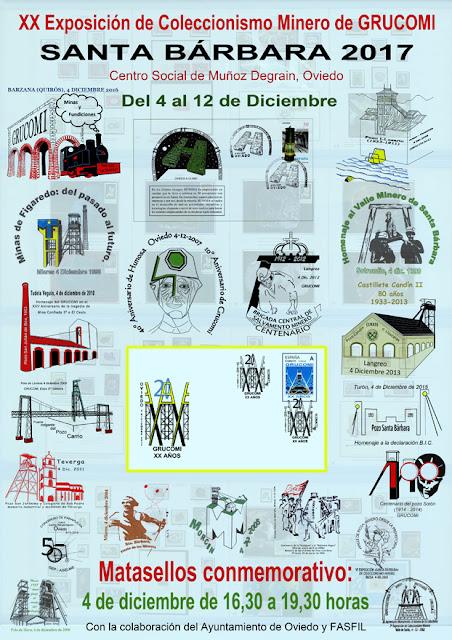 Cartel de la XX Exposición de Coleccionismo Minero de GRUCOMI