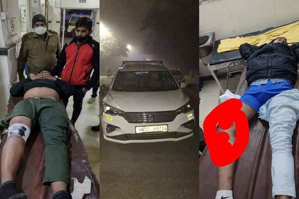faridabad-police-help-accident-injured-escort-company-staff