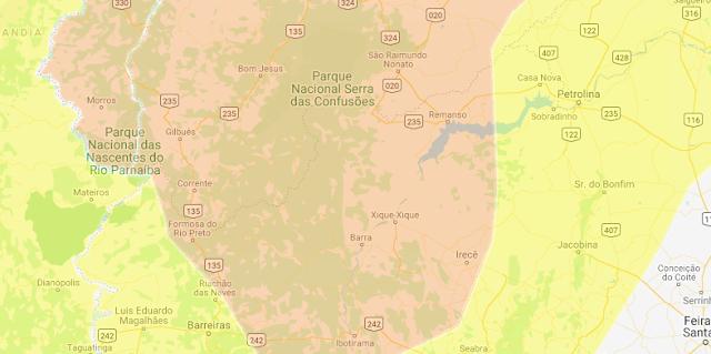 INMET emite alerta e coloca região de Irecê na zona laranja de risco