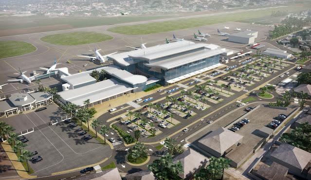 Perspective 3D - Axonométrie de l'aéroport coté ville
