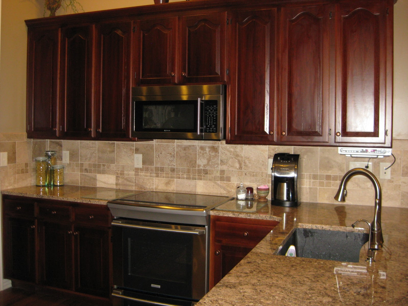 Kitchen Cabinets with Microwave