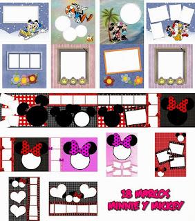 Coleções variadas especial Minnie y Mickey (Png)