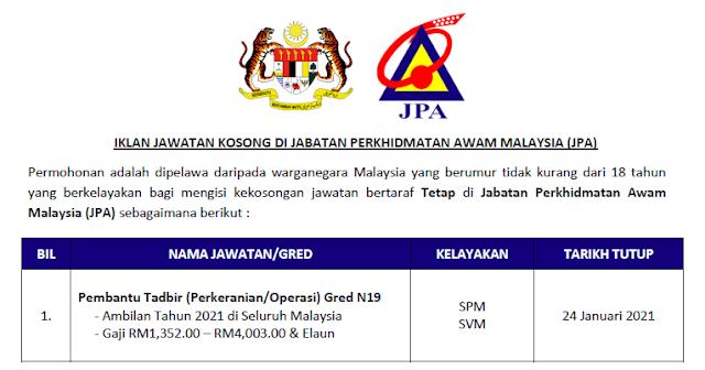 jabatan perkhidmatan awam 2021