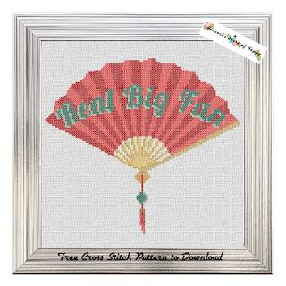 It was a free Chinese fan cross stitch pattern