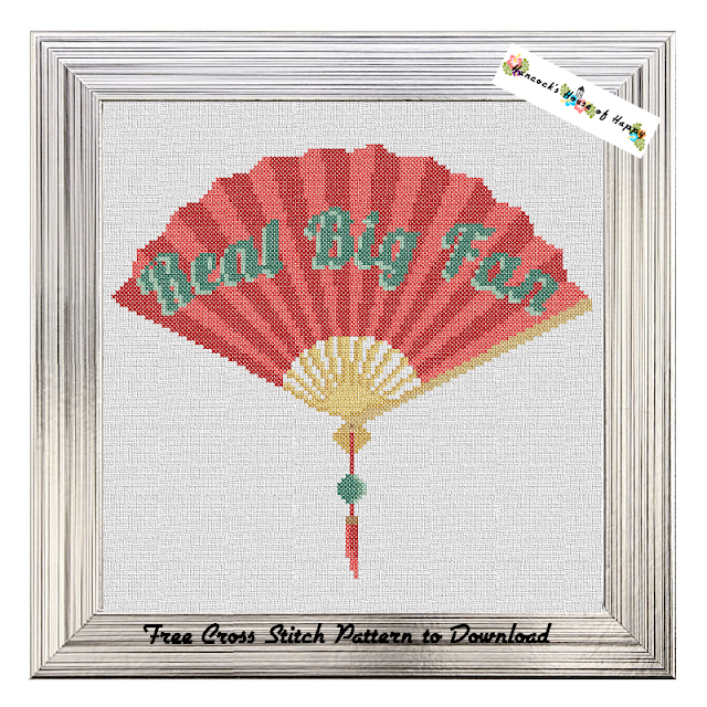 Great Big Fan Puntastic Chinese Fan Cross Stitch Pattern