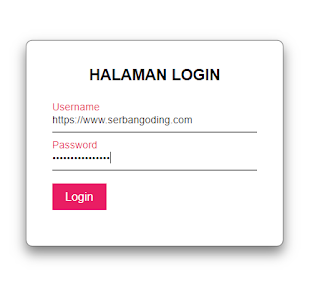 membuat form login dengan html
