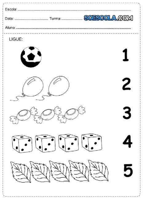 Diversas Atividades de Matemática para crianças