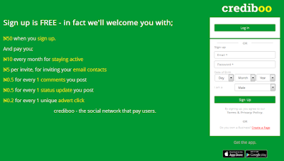 Crediboo earn money social network