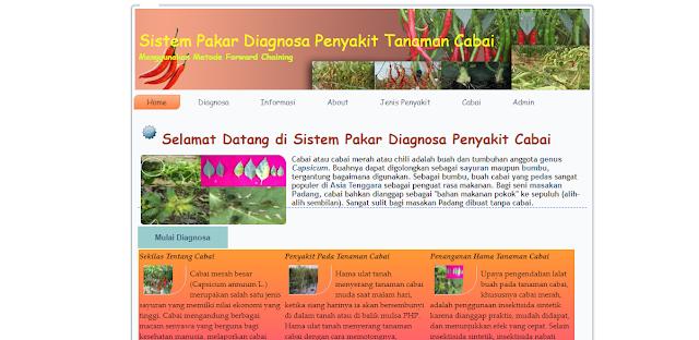 Aplikasi Sistem Pakar Diagnosa Penyakit tanaman Cabai berbasis Web dengan Metode Forward Chaining