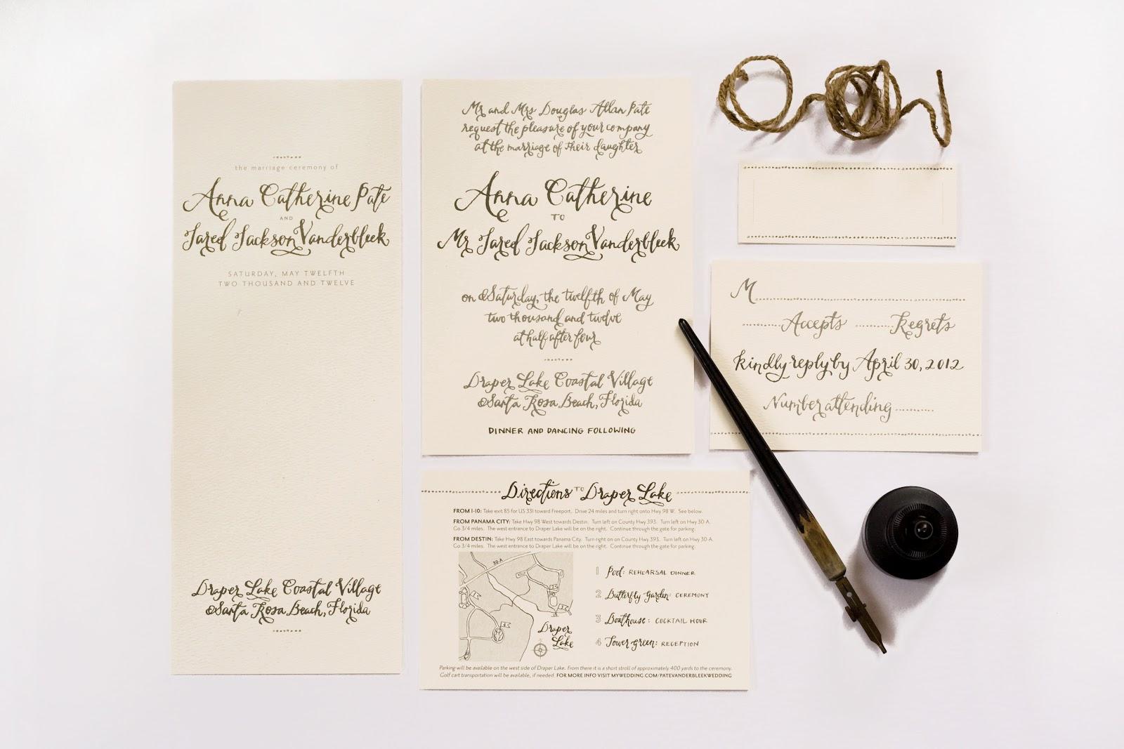 How Do You Stuff A Wedding Invitation: The Good Stuff: WEDDING INVITATION SUITE: Anna Pate