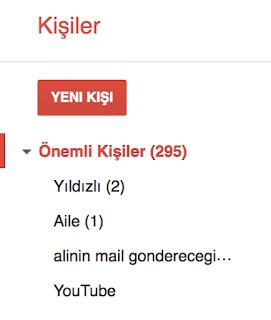 gmail üzerinde mail grubu oluşturma