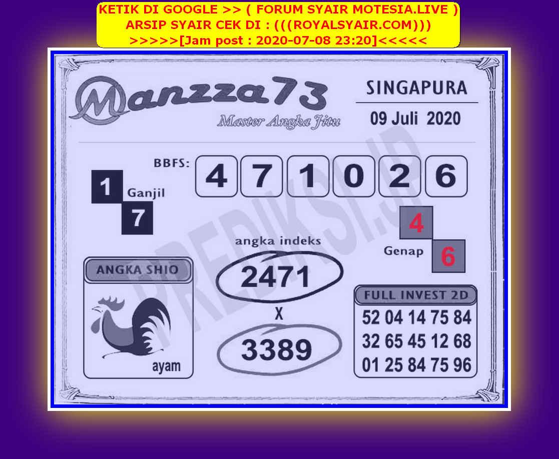 Kode syair Singapore Kamis 9 Juli 2020 243