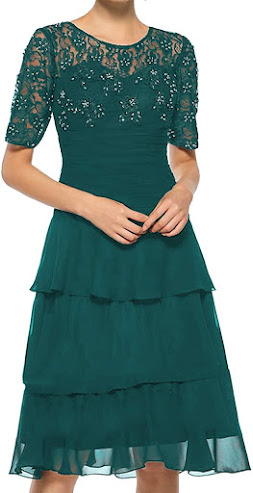 Short Green Mother of The Bride Dresses