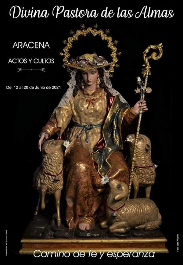 Cartel Anunciador de Divina Pastora de las Almas de Zalamea la Real 2021